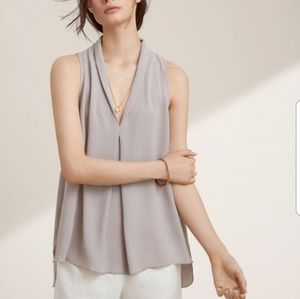 Aritzia Wilfred Nuit Sleeveless Blouse in Ashen s